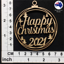 Load image into Gallery viewer, WS1030 Happy Christmas Bauble with Trees and 2020