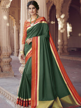 Load image into Gallery viewer, Satin Silk Saree with Printed Blouse