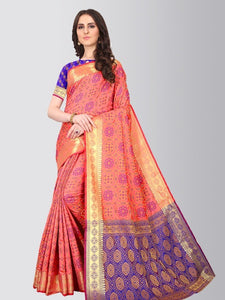 Light Pink Pure Patola Silk Saree