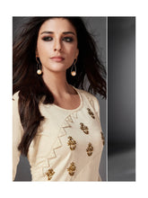 Load image into Gallery viewer, Off White Side Slit Cotton Kurta