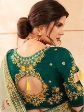 Load image into Gallery viewer, Light Green Designer Saree