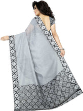Load image into Gallery viewer, Solid Daily Wear Cotton Silk Saree (Grey)