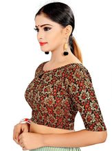 Load image into Gallery viewer, Women's Brocade & Georgette Readymade Saree's Blouse
