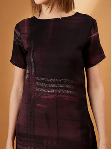 Wine Georgette Long Top