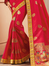 Load image into Gallery viewer, Red Designer Saree