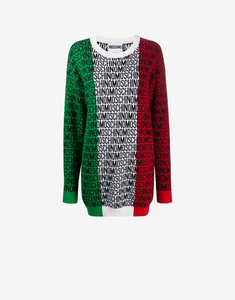 Italian Slogan Knit Dress