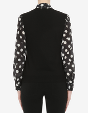 Load image into Gallery viewer, Polka Dots Pussybow Sweater