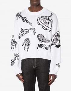 Spaceships Cotton Pullover