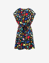 Load image into Gallery viewer, Allover Symbols Fleece Dress