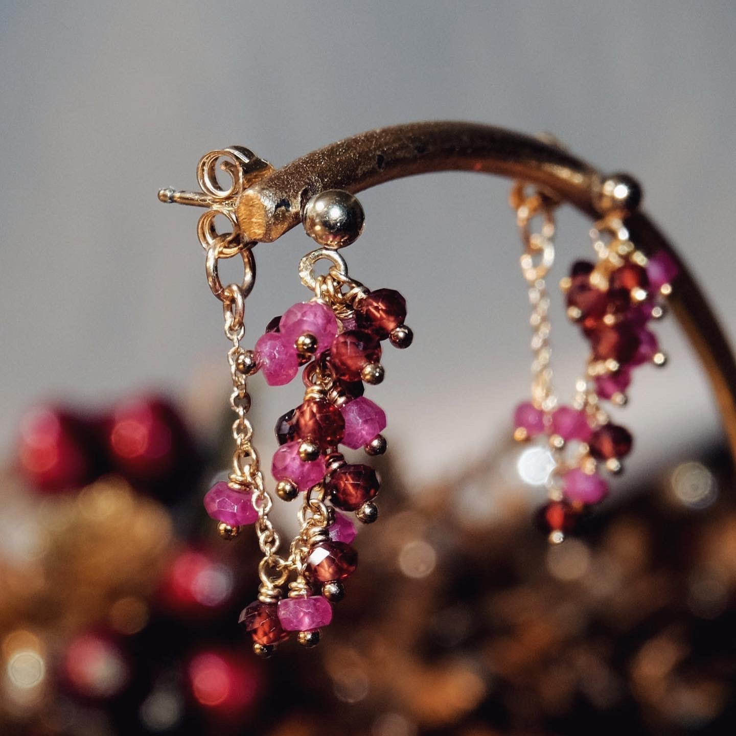 Mulberry Ruby Earrings S