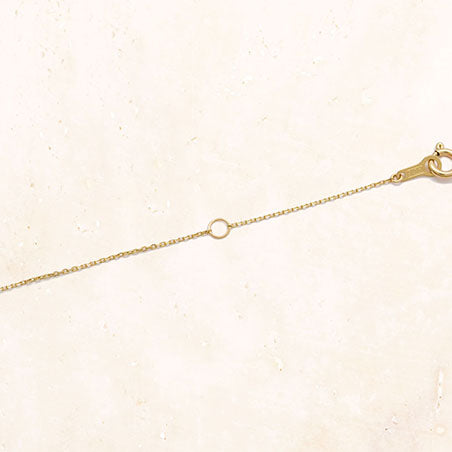 18K Yellow Gold Chain Necklace 40cm