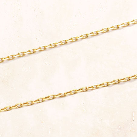 10K Gold Leaf Chain Necklace 40cm