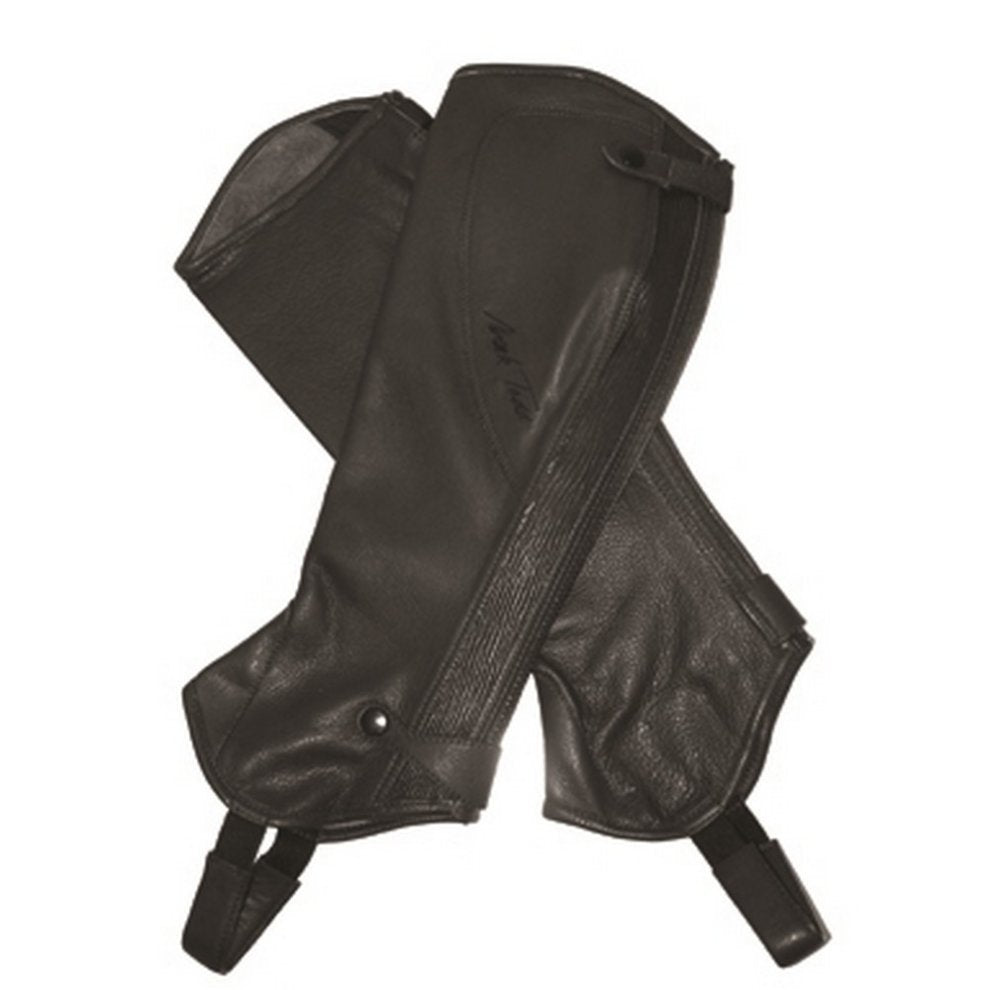 Mark Todd Close Fit Leather Chaps Black M-Tall