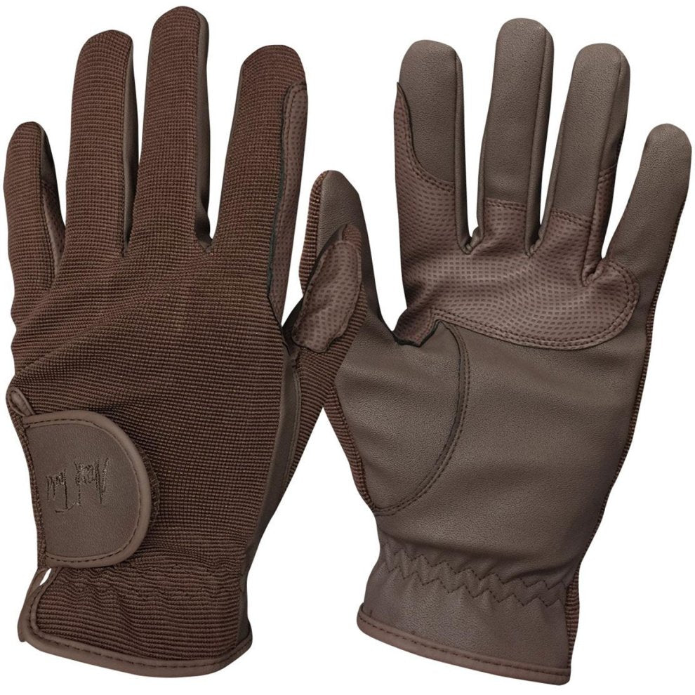 Mark Todd Super Riding Gloves Brown Small