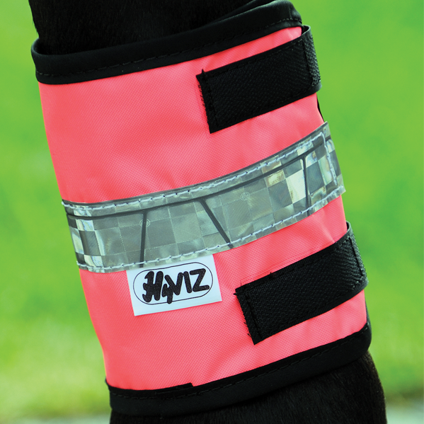 HyVIZ Leg Bands Pink/Black | Country Ways