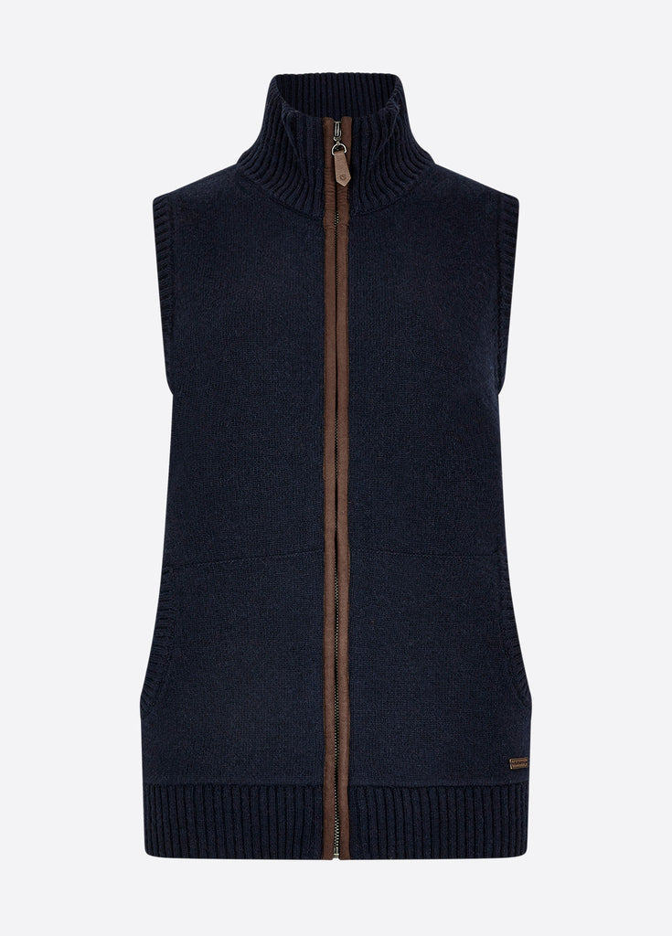 Dubarry Women's Sheedy Knitted Gilet Navy | Country Ways