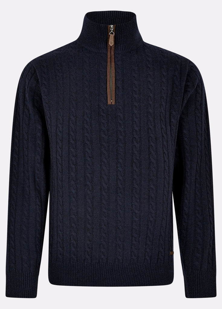 Dubarry Men's Thompson Knitted Sweater Navy | Country Ways