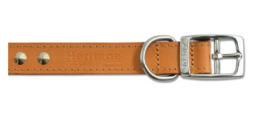 Ancol Heritage Leather Stud Collar Tan Size 6 (45-54CM)