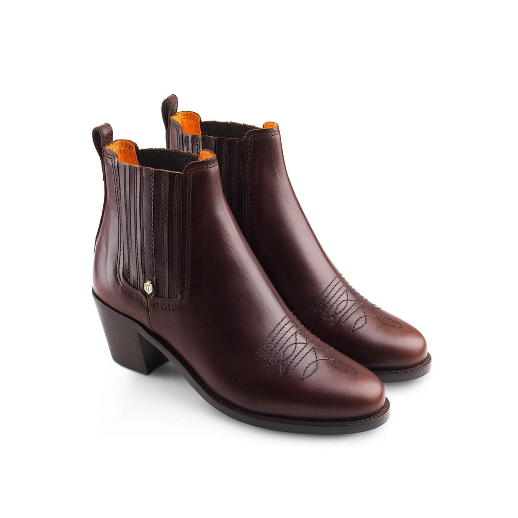 Fairfax & Favor Rockingham Ankle Boot Mahogany | Country Ways