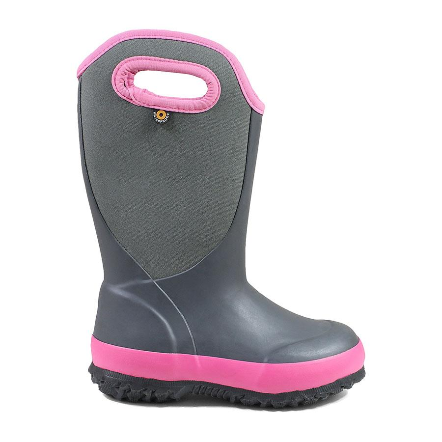 Bogs Kids Insulated Slushie Solid Dark Grey/Pink | Country Ways