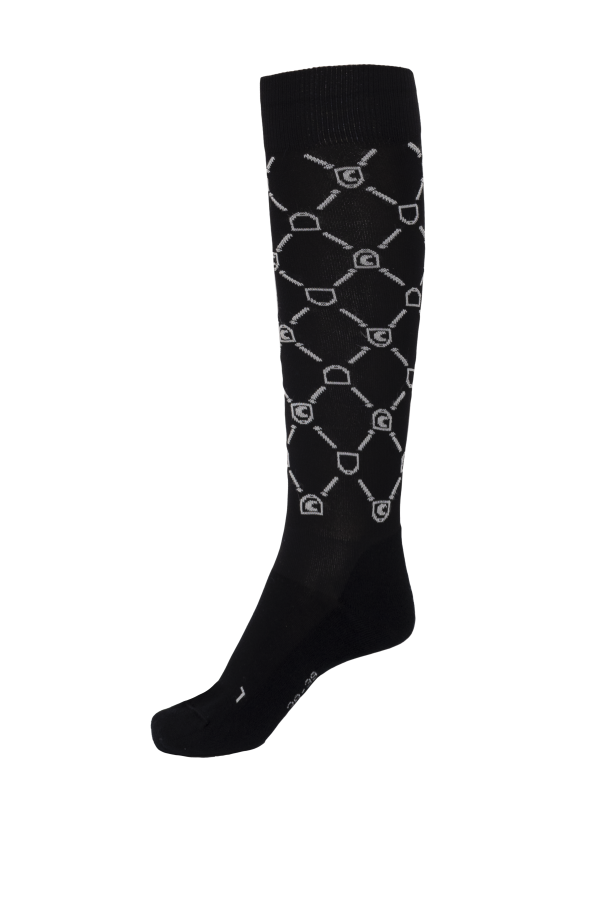Cavallo Safira Functional Long Sock Dark Black/Off White | Country Ways