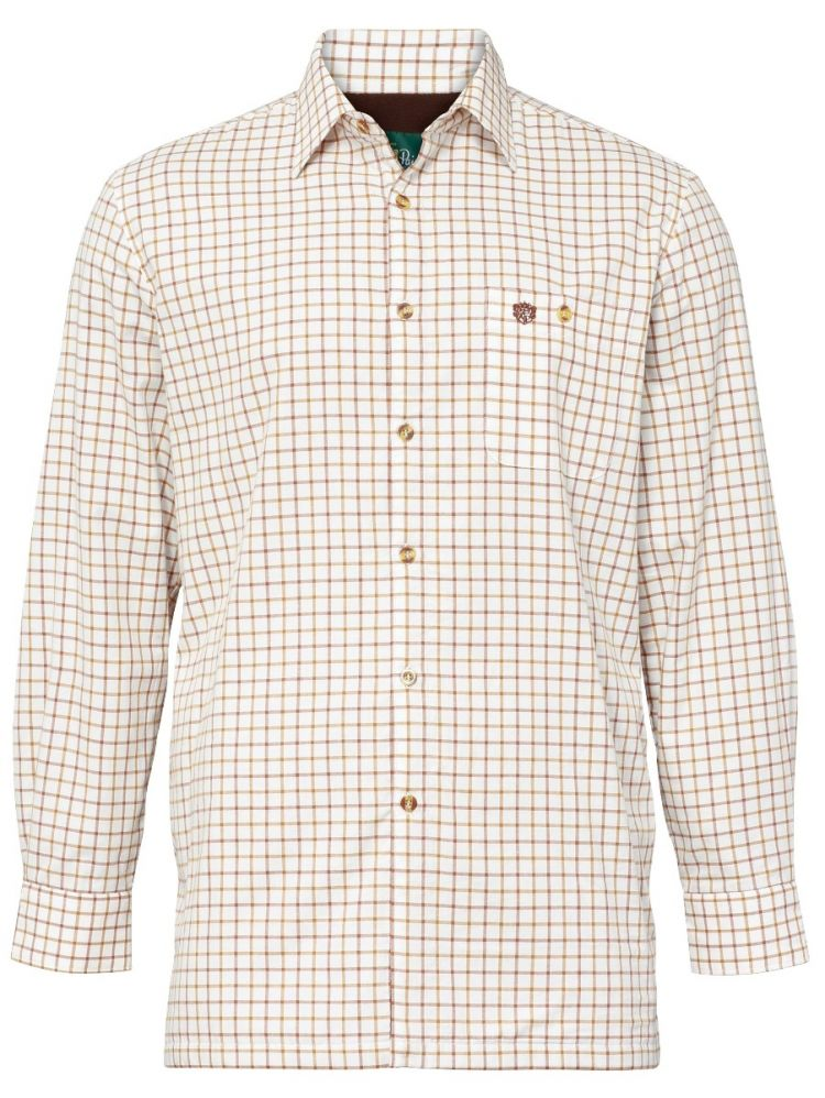 Alan Paine Bury Mens Fleece Lined Shirt Gazelle | Country Ways