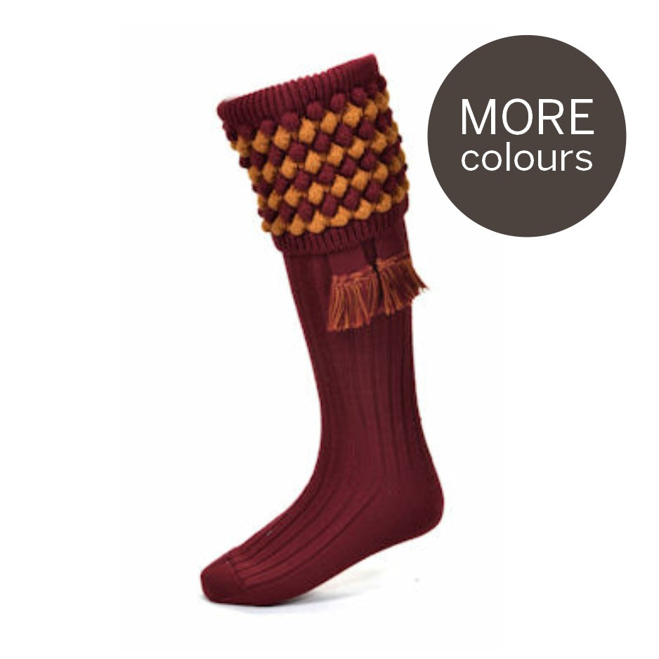 House of Cheviot Socks Angus with Garter Brick | Country Ways