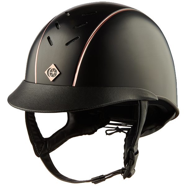 Charles Owen Ayrbrush Helmet Rose Gold Pinstripe | Country Ways