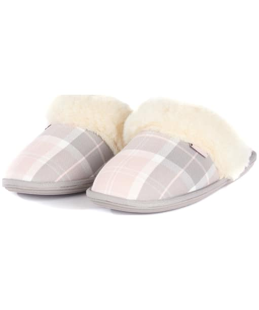 Barbour Lydia Mule Slippers Tartan