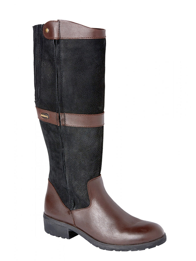 Dubarry Women's Leather Sligo Boots - Black/Brown | Country Ways