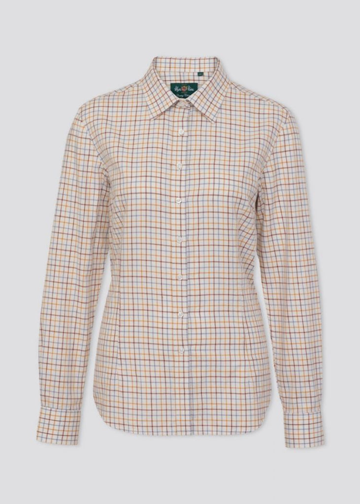 Alan Paine Bromford Ladies Shirt Country Check Brown | Country Ways