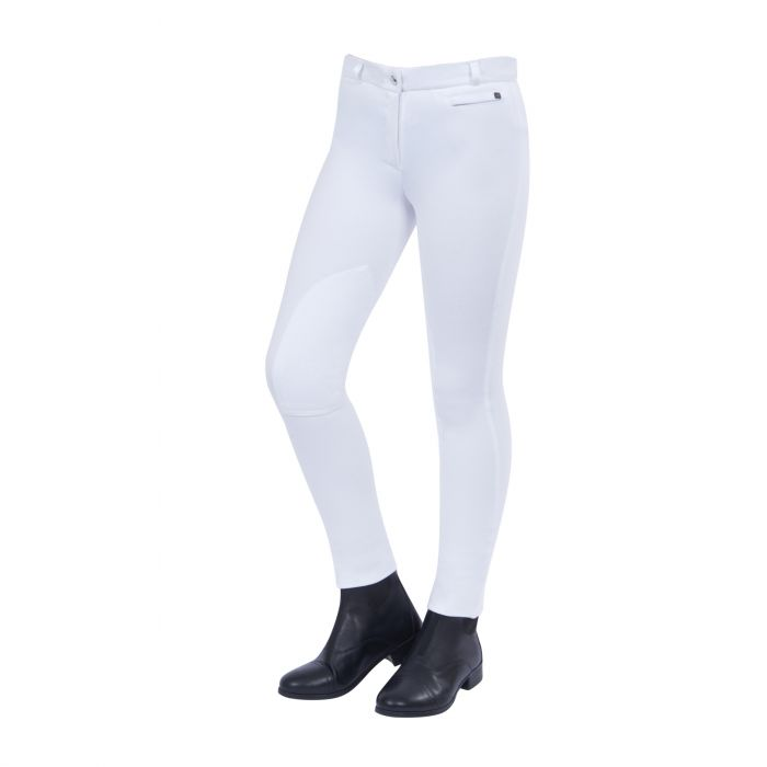 Dublin Supa Fit Knee Patch Jodhpurs Childs White | Country Ways
