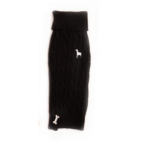 Pet London Cable Knit Black | Country Ways