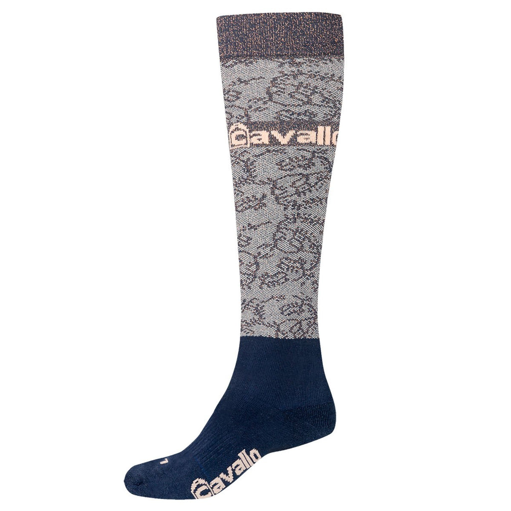 Cavallo Susa Long Sock Dark Blue/Rose Gold | Country Ways