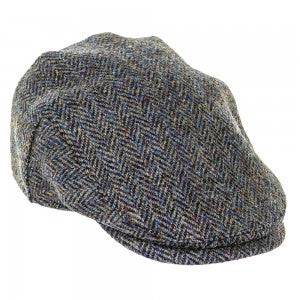 Heather Hats Highland Harris Tweed Flat Cap Dark Green | Country Ways
