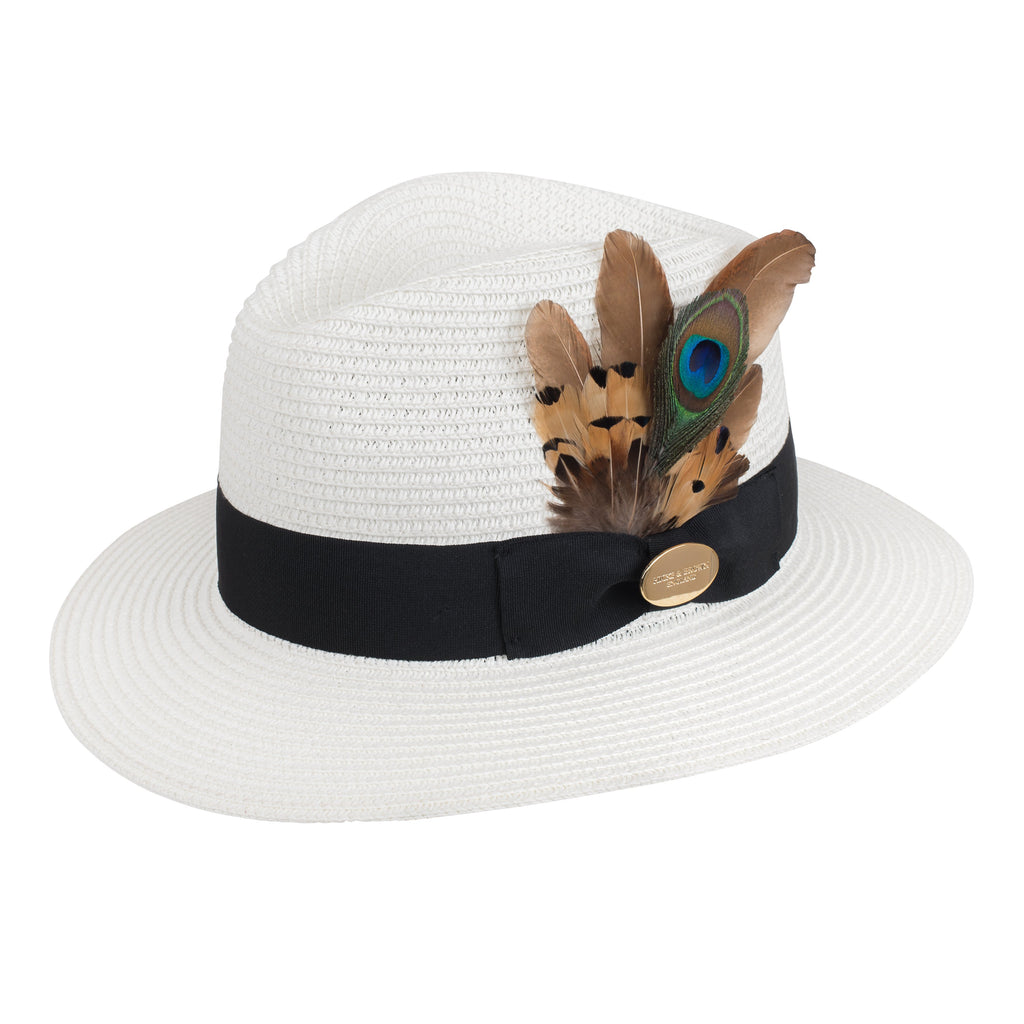 Hicks & Brown Aldeburgh Fedora Peacock Feather | Country Ways