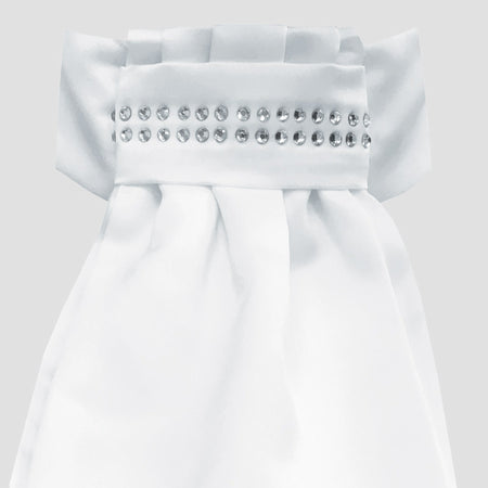 Equetech Deluxe Ready-Tied Stock White/Diamante Band