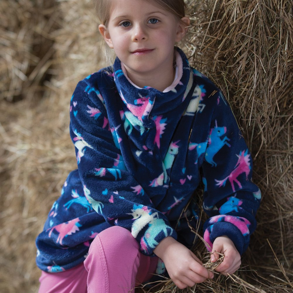 Equetech Dinky Rider Unicorn Fleece Navy | Country Ways