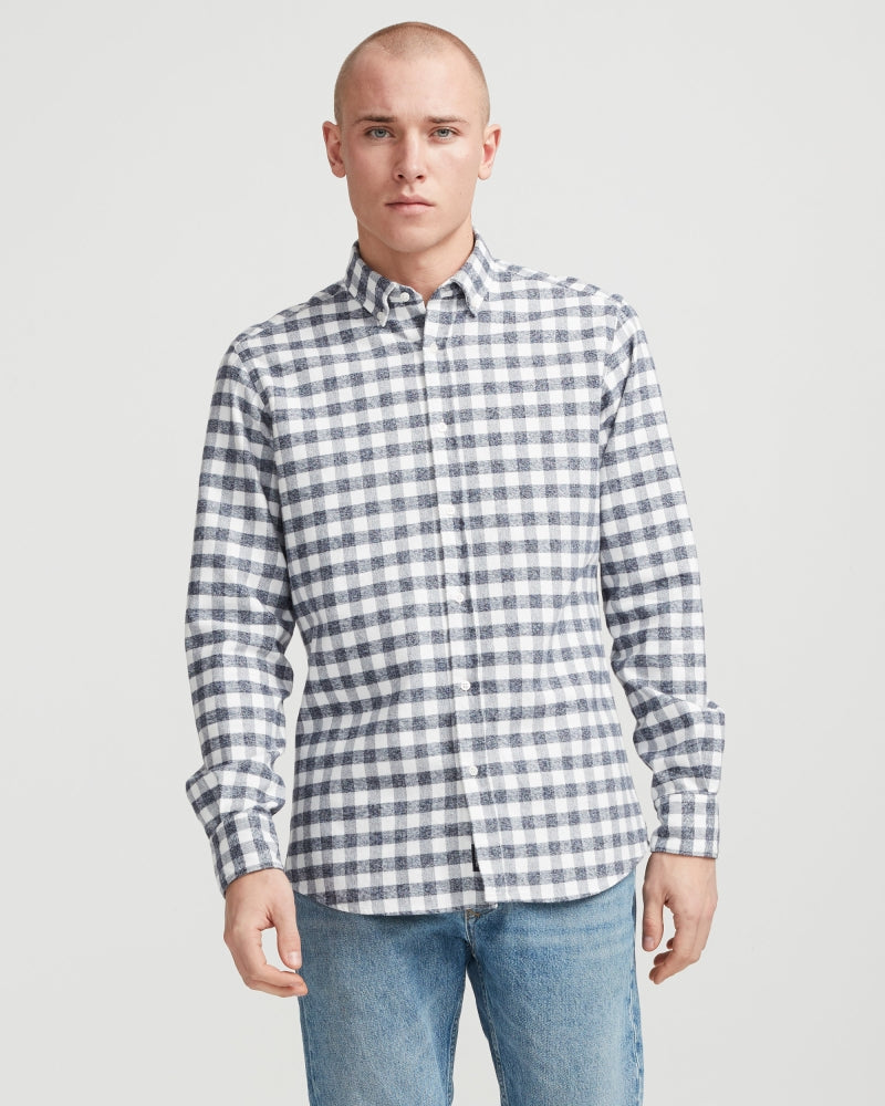 Holebrook Sweden Christos Shirt Navy/Off White | Country Ways
