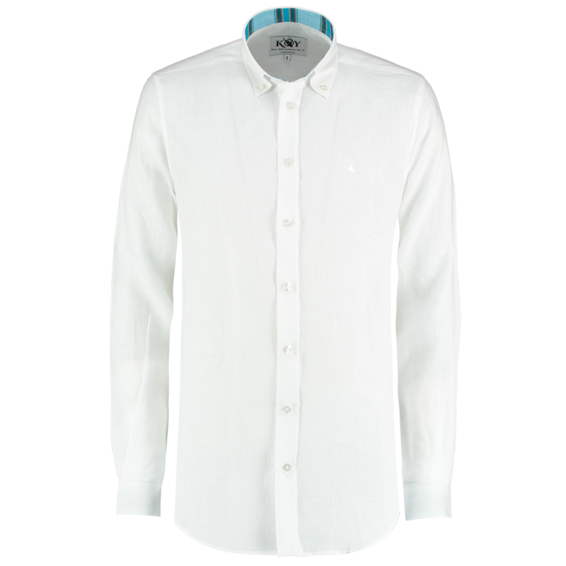 Koy Linen Shirt Luo White | Country Ways