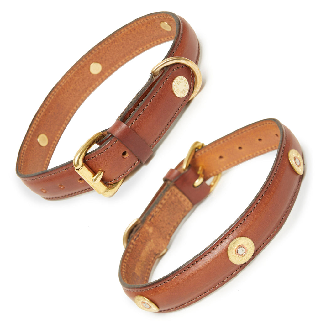 Hicks & Hides Laverton Field Dog Collar Cognac | Country Ways