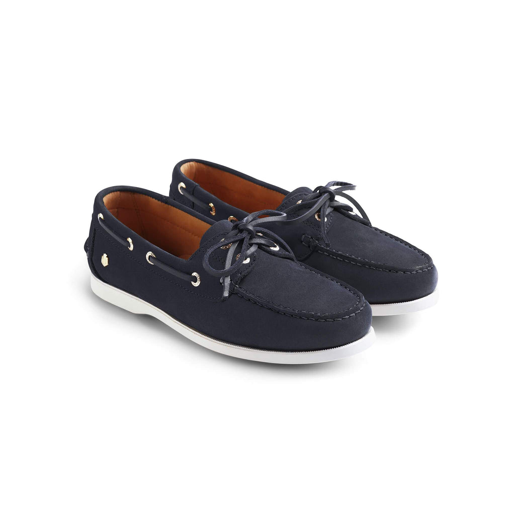 Fairfax & Favor Salcombe Deck Shoe Navy Blue | Country Ways