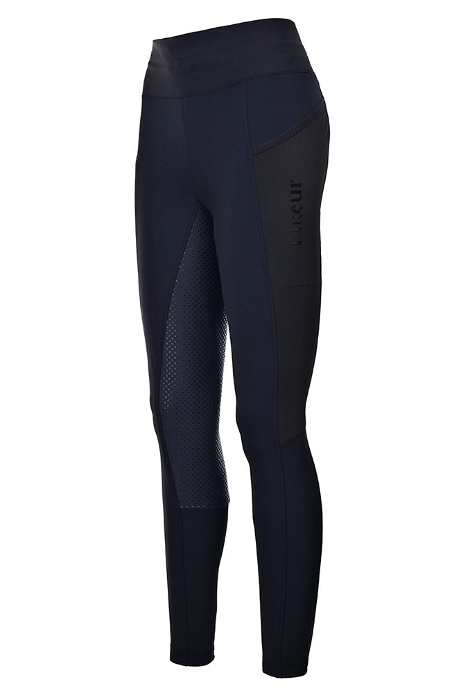Pikeur Inja Grip Breeches Athleisure Navy Blue | Country Ways