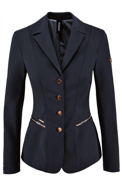 Pikeur Paulin Ladies Compitition Jacket With Ornamental Studs Navy/Rose Gold | Country Ways