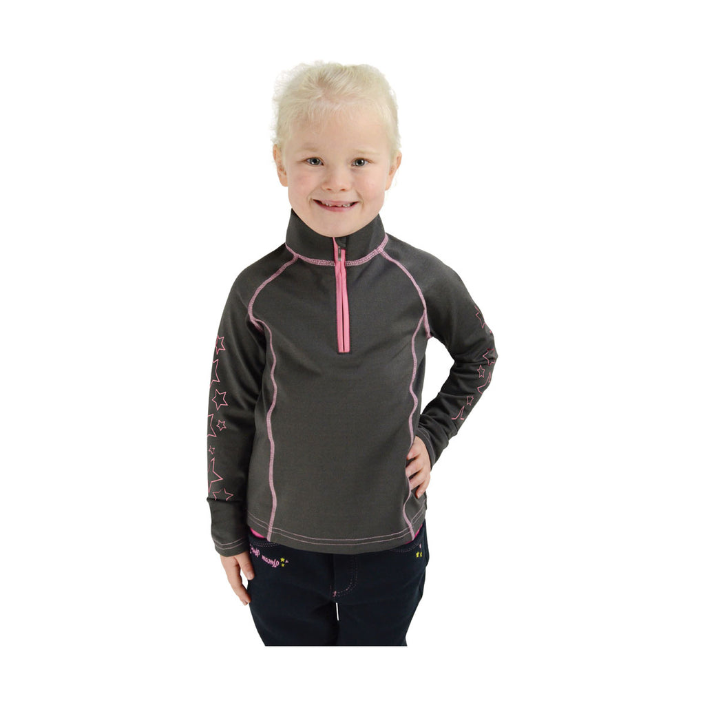 Hy Equestrian Stella Children's Base Layer Grey/Pink | Country Ways