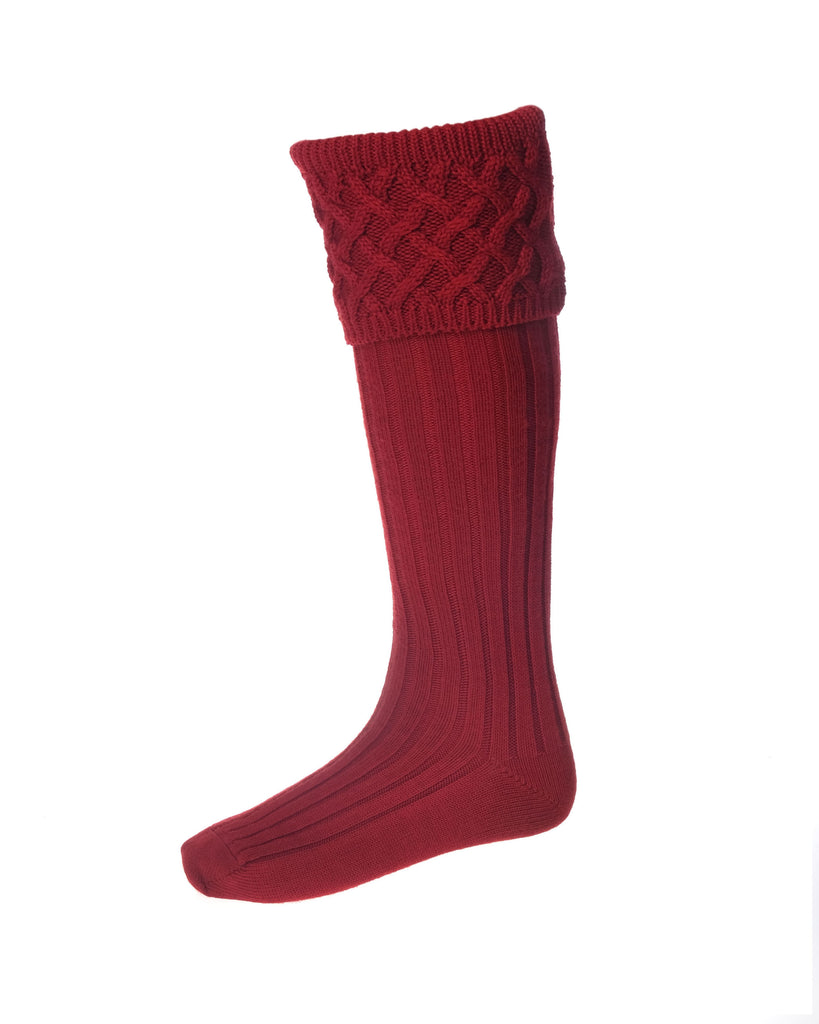 House Of Cheviot Rannoch Sock Brick Red | Country Ways