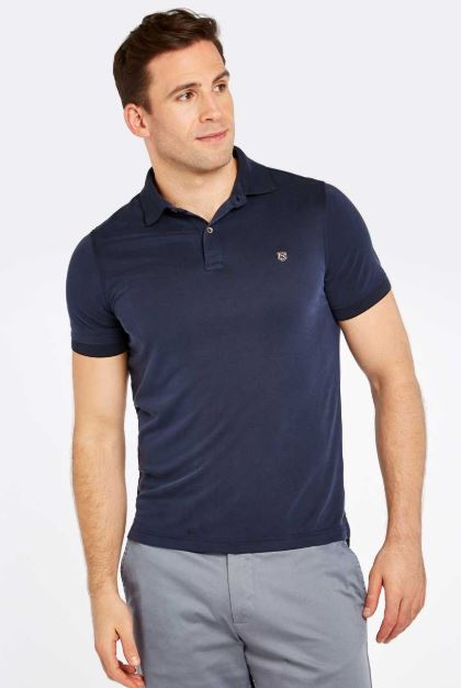 Dubarry Men's Rockrook Polo Shirt Navy | Country Ways
