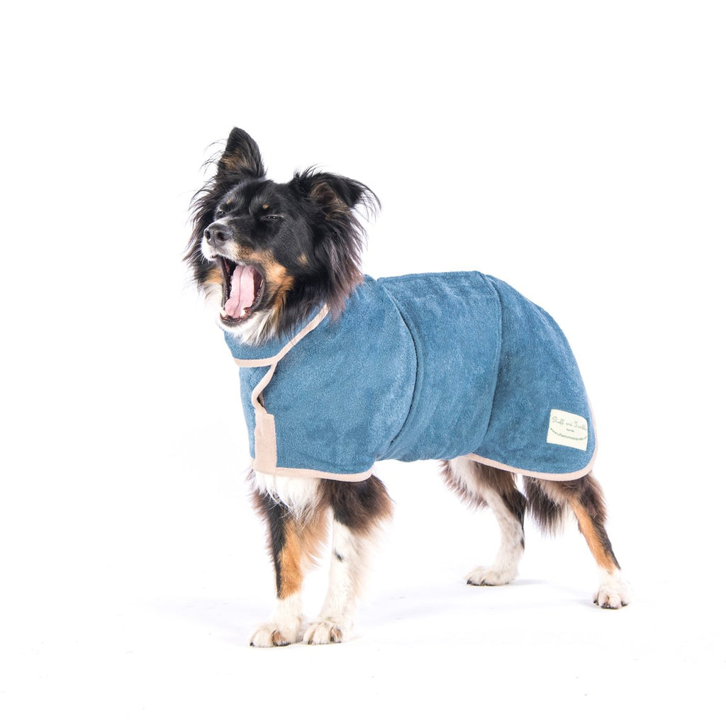 Ruff And Tumble Dog Drying Coat Blue | Country Ways