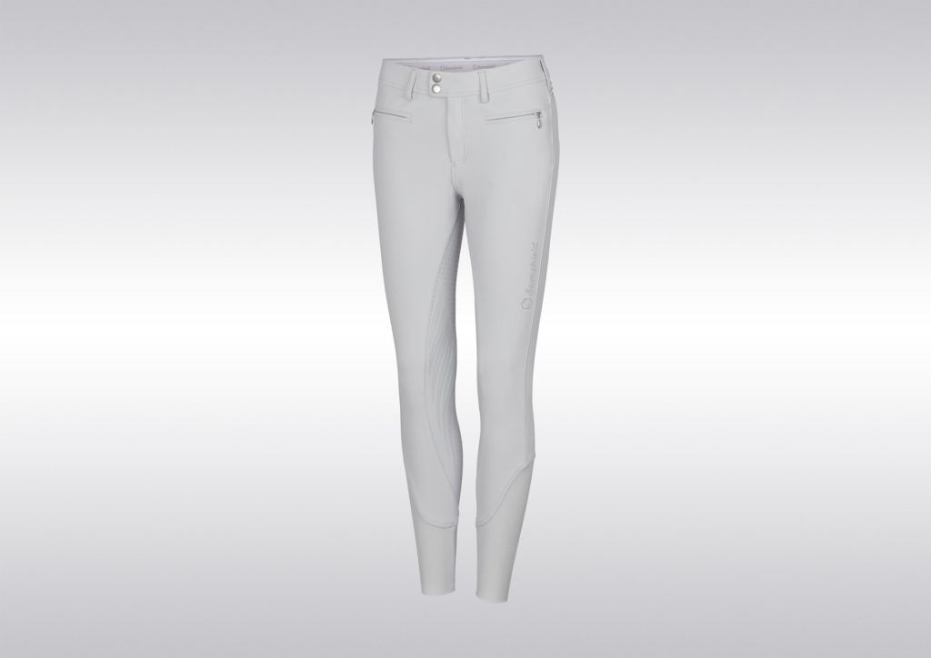 Samshield FW19 Womens Diane Full Grip Breeches Light Grey | Country Ways