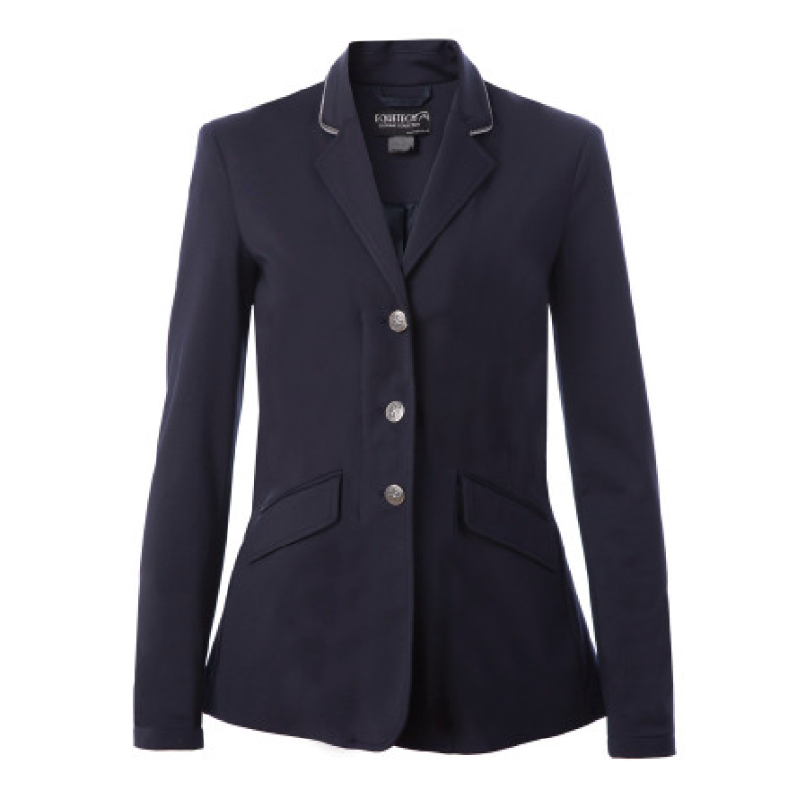 Equetech Junior Jersey Deluxe Competition Jacket Navy | Country Ways